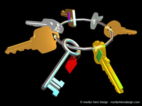 GSO (Global Sign-On) Keys 3D Model