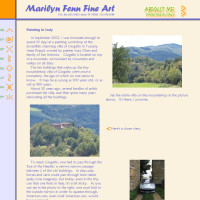Marilyn Fenn Fine Art - About Me Painting in Italy