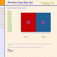 Marilyn Fenn Fine Art - Fun Stuff - Color Theory Exercises