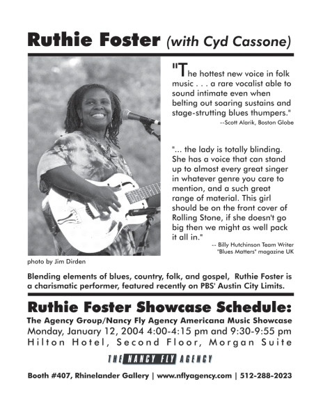 Ruthie Foster Ad