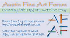 Austin Fine Art Forum Business Card