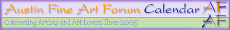 Austin Fine Art Forum Calendar Header