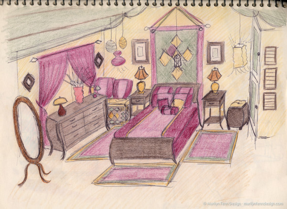 Bedroom Decor Sketch