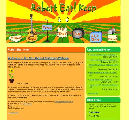 REK animated graphic in Drupal website