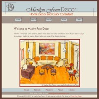 Marilyn Fenn Decor website, v1