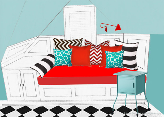 Daybed And Cabinet Design