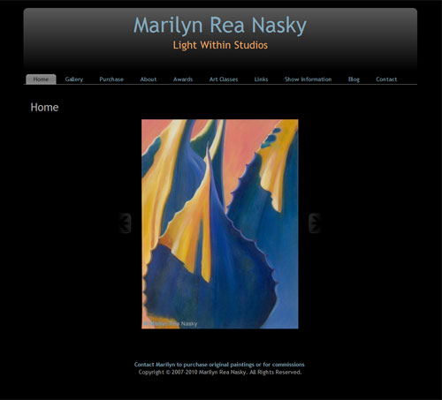 Marilyn Rea Nasky's New WordPress website