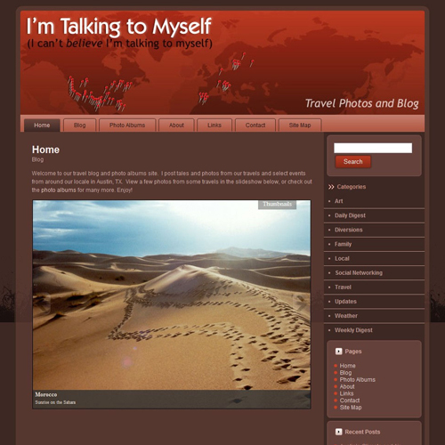 I'm Talking to Myself travel photos website