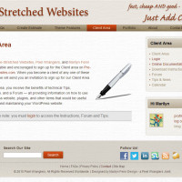 Pre-Stretched Websites - Client Area