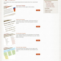 Pre-Stretched Websites - Page Templates