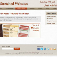 Pre-Stretched Websites - Page with Posts Template with Slider