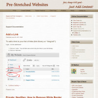 Pre-Stretched Websites - Support Documentation