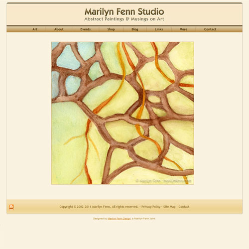 Abstract Paintings by Austin Artist Marilyn Fenn, website design v4.5