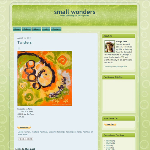 Small Wonders art blog, v2