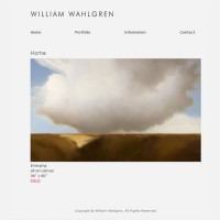 image of painter William Wahlgren's website