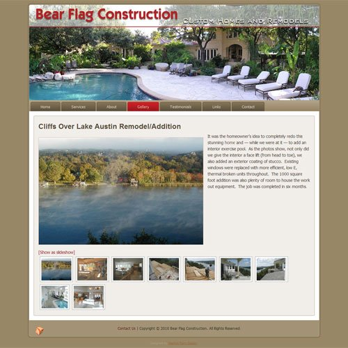 Bear Flag Construction website