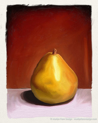 Digital Pear Illustration