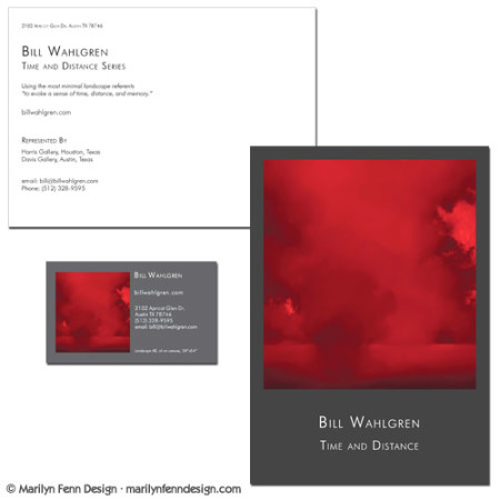 Bill Wahlgren Artist Postcard and Business Card