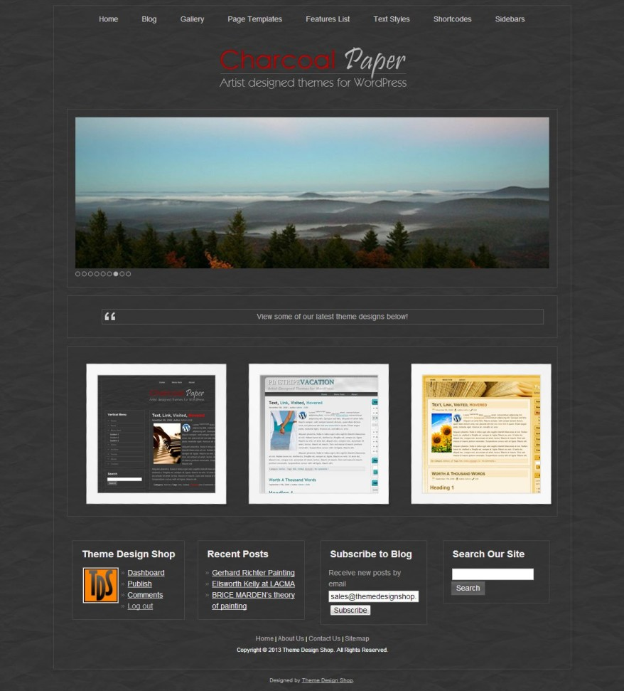 Charcoal Paper WordPress Theme
