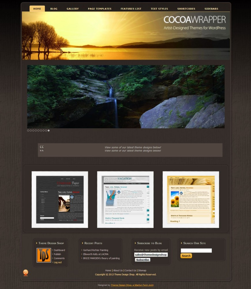 Cocoa Wrapper WordPress Theme