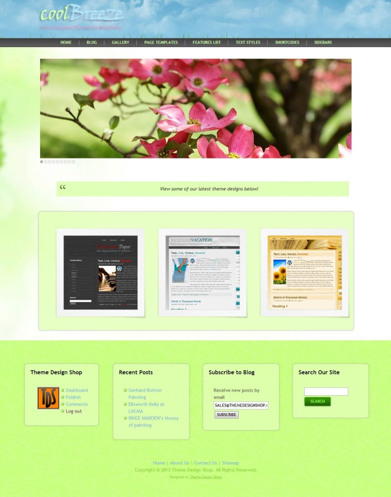Cool Breeze WordPress Theme