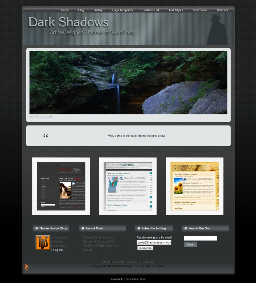 Dark Shadows WordPress Theme