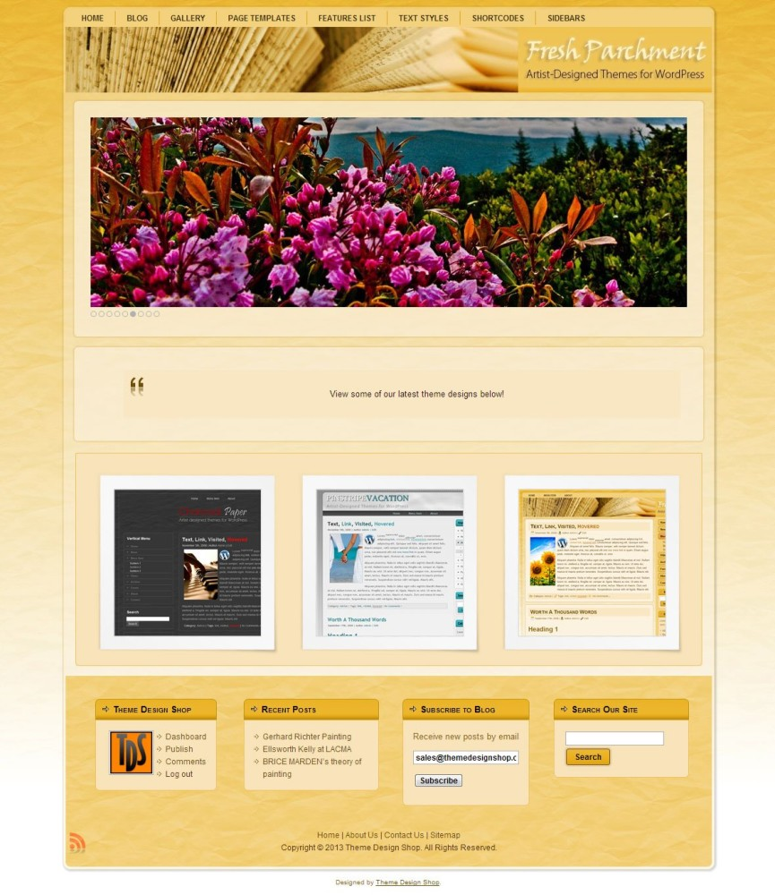Fresh Parchment WordPress Theme