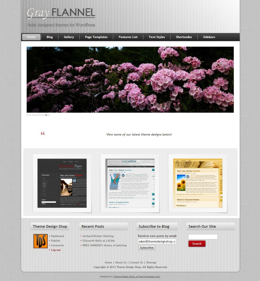 Grey Flannel WordPress Theme