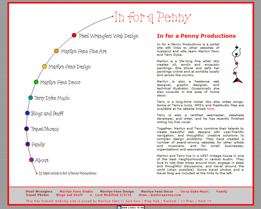 In for a Penny Productions website