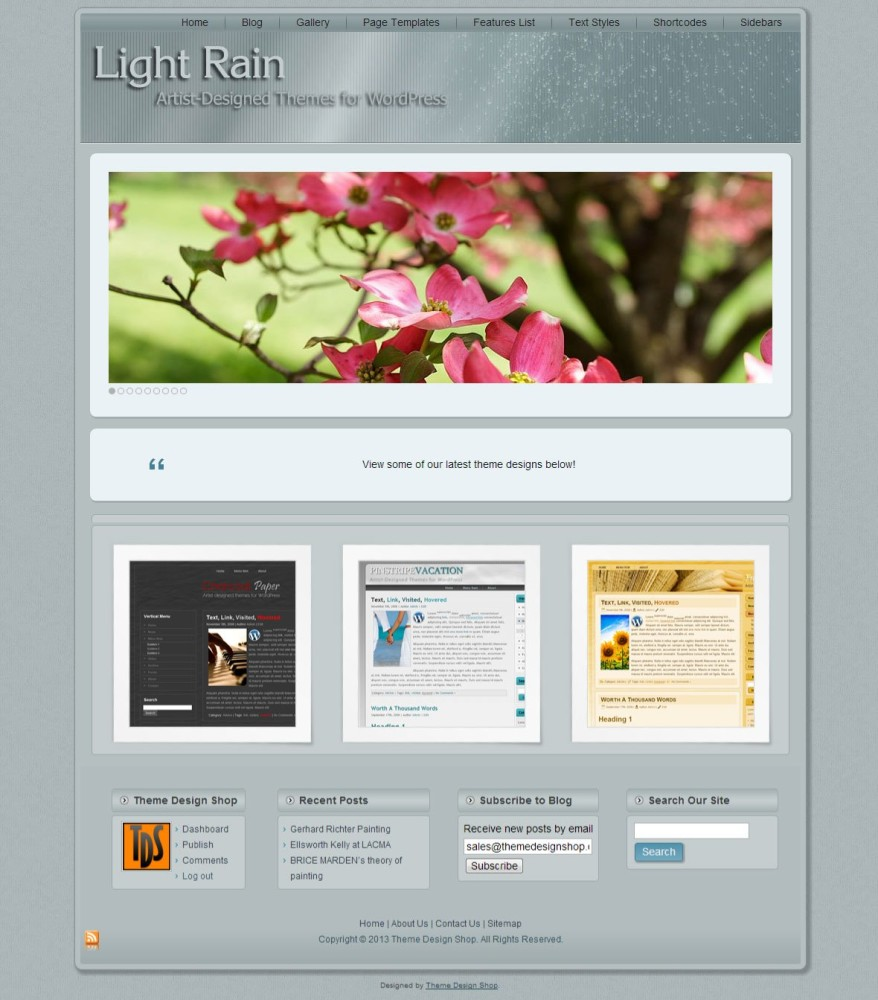 Light Rain WordPress Theme