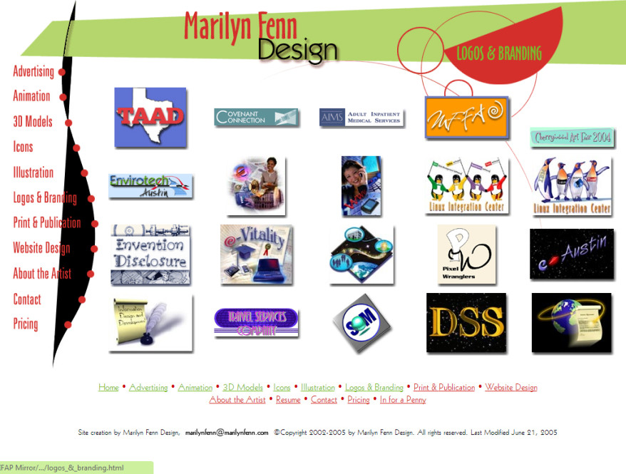 Marilyn Fenn Design v1 - Logos
