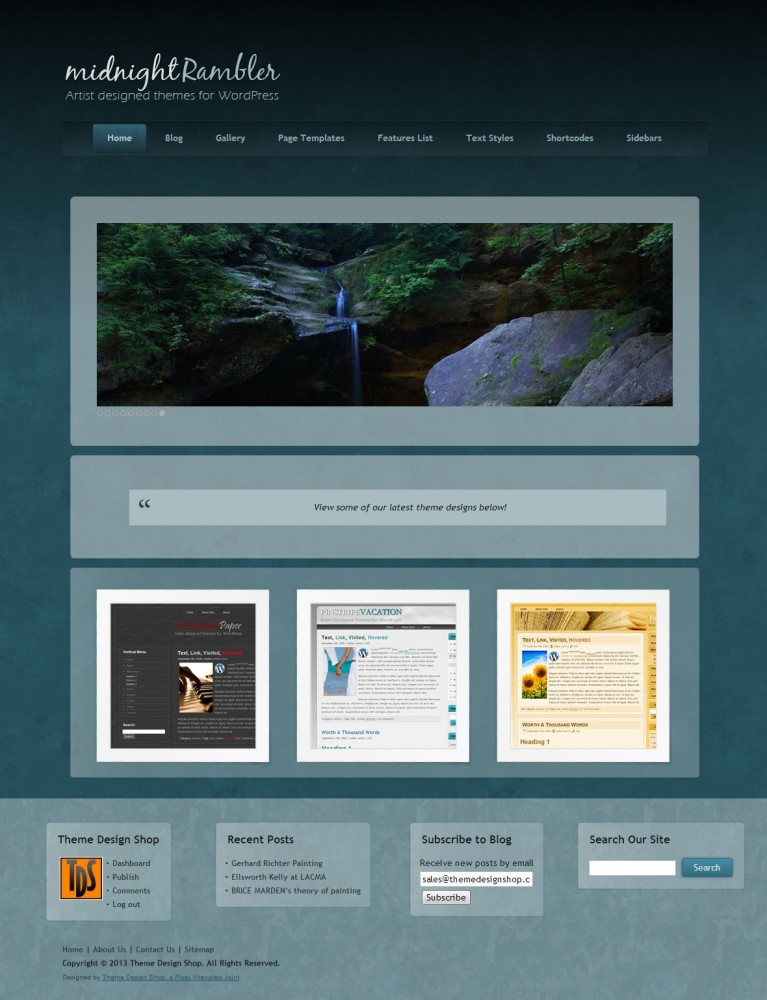 Midnight Rambler WordPress Theme