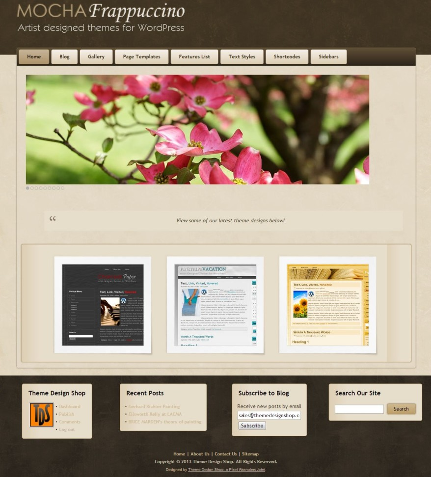 Mocha Frappucino WordPress Theme