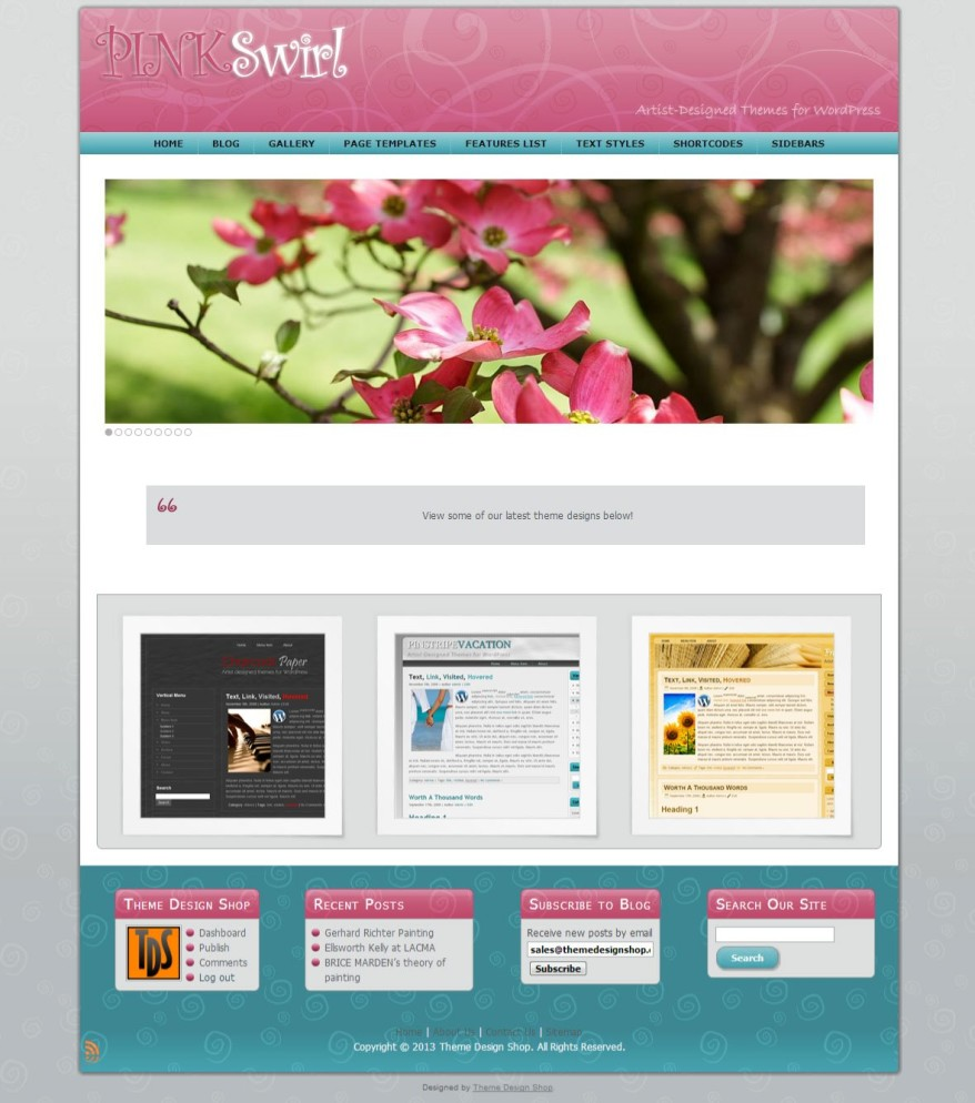 Pink Swirl WordPress Theme