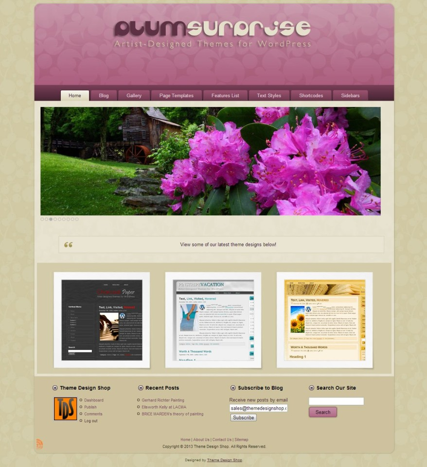 Plum Surprise WordPress Theme