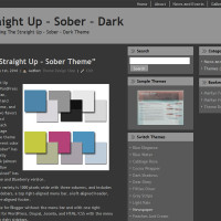 Straight Up Dark Wordpress Theme