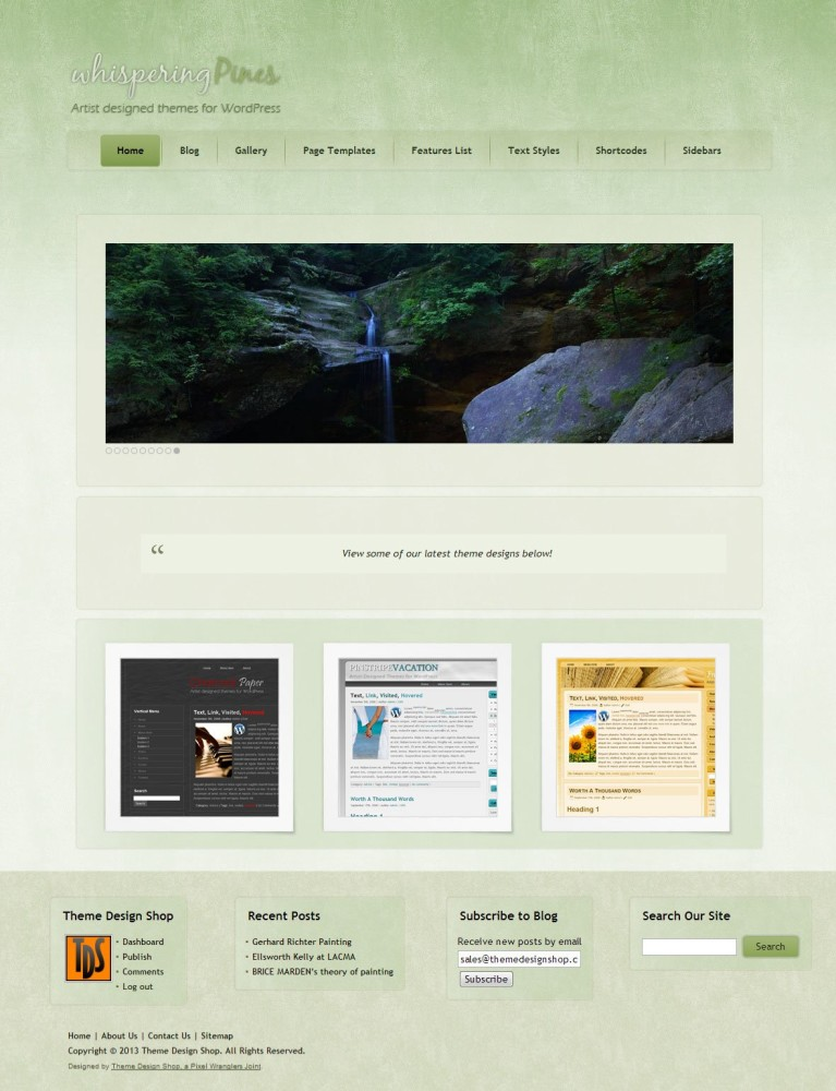 Whispering Pines WordPress Theme