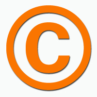 Copyright symbol graphic
