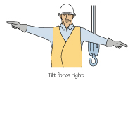 Lifting Truck - Hand Signals - Tilt Forks Right
