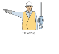 Lifting Truck - Hand Signals - Tilt Forks Up